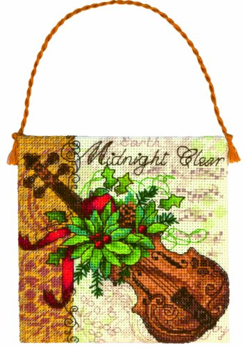 Dimensions Counted Cross Stitch, Gold Petite Collection Violin Ornament (70-08872) Petite Hanging Ornament