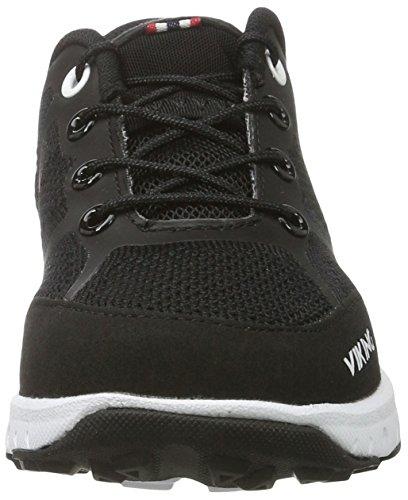 Viking Ullevaal, Zapatillas de Deporte Exterior Unisex Niños Negro (Black/White)