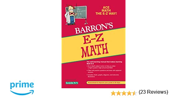 E-Z Math (Barron's E-Z Series): Anthony Prindle, Katie Prindle ...
