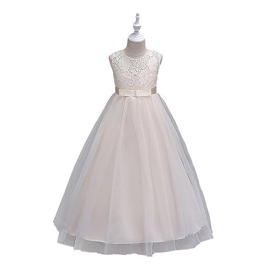 abe8067cc1a2 Amazon.com  Kids Showtime Girl Princess Skirt Lace Wedding Dress ...