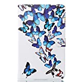 Alfort Samsung T580 Case, Samsung T580 Cover, 3D Painting iPad Case Cover Flip Fold PU Book Wallet Case for Samsung T580 Tablet Computer Image Butterflies