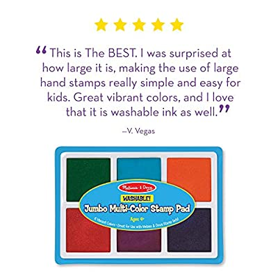 Melissa & Doug Jumbo Multi-Colored Stamp Pad: Melissa & Doug: Toys & Games