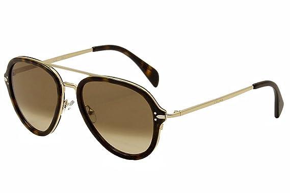 20b72e1a88675 Sunglasses Celine 41374 S 0ANT Dark Havana Gold   9J gray polarized lens