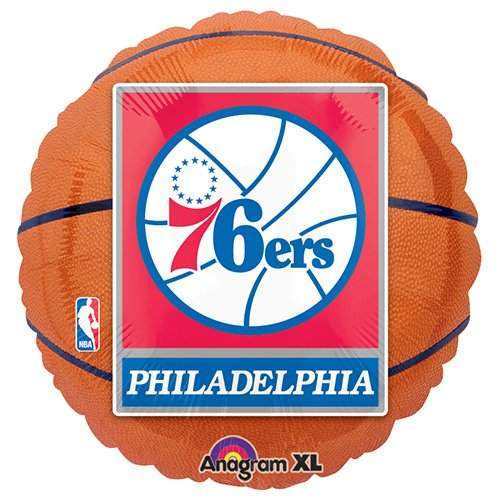 Mayflower Distributing - Philadelphia 76ers Basketball Foil -