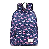 CIKER Women Flamingo printing backpacks for teenage girls rucksack cute school bags (Blue)