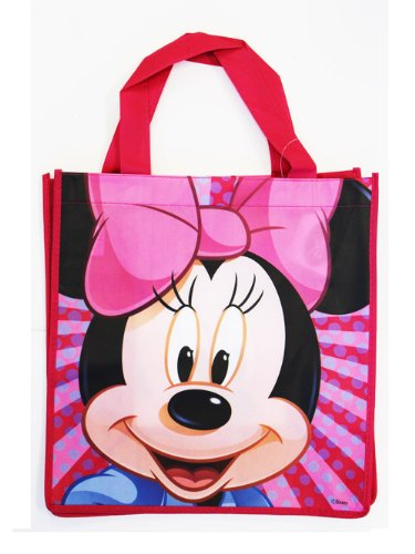 Medium Pink Minnie Mouse Tote Bag - Minnie Mouse Travel Bag]()