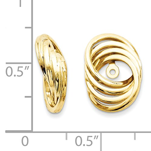 Roy Rose Jewelry 14K Yellow Gold Polished Love Knot Earring Jackets 14mm length by Roy Rose Jewelry (Image #1)'