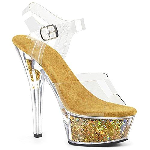 Personalidad zapatos Tacones Golden Damas Banquete Verano Damas Golden el Dedos 4a031e