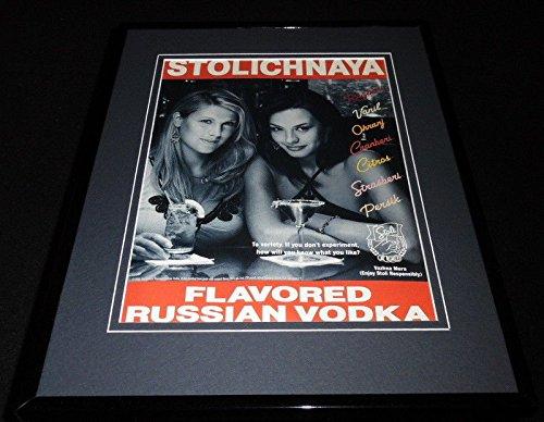 2004 Stolichnaya Stoli Russian Vodka Framed 11x14 ORIGINAL Advertisement