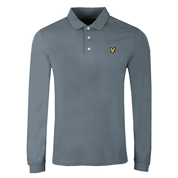b27197e8 Lyle and Scott - LS Polo Shirt, Mist Blue: Amazon.co.uk: Clothing