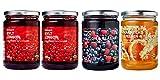 Ikea Organic Jam Bundle - Includes Total 4 Preserves - 2 SYLT LINGON Lingonberry Organic Preserves, 1 SYLT HALLON & BLABAR Raspberry & blueberry organic jam and and 1 MARMELAD APELSIN & FLÄDER Orange