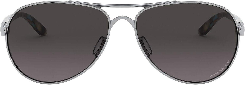 Oakley Women's Oo4108 Tie Breaker Metal Aviator Sunglasses