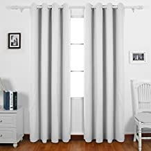 Deconovo Thermal Insulated Blackout Curtains Grommet Window Panel For Living Room Off White 55 X 63 Inch One Pair