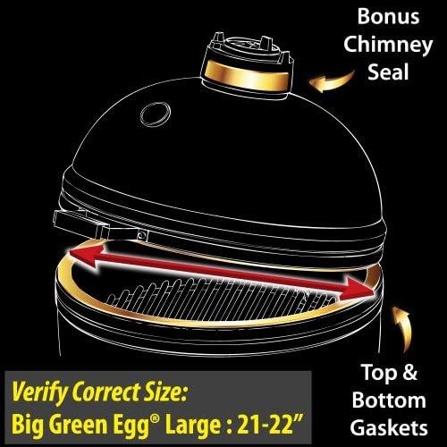 High Heat NOMEX Gasket w// adhesive for Big Green Egg Medium #3 med GKHDM