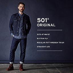 Levi\'s Men\'s 501 Original Fit Jean, Medium Stonewash, 34x32
