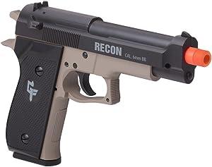 GameFace GFRAP22KT Recon Spring-Powered Single-Shot Combat Pistol With Black Holster, Dark Earth/Black