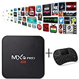 [Free Wireless Mini Keyboard] DIGOU® 2018 MXQ Pro Android 6.0 TV Box Amlogic S905 64 Bits Quad Core and Supporting 4K (60Hz) Full HD /H.265 /WiFi 2.4GHz …