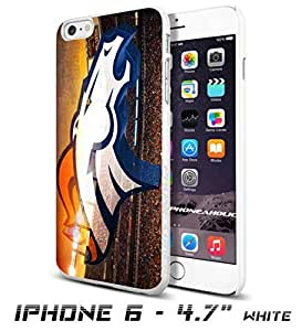 NFL Denver Broncos Logo, Cool iPhone 6 - 4.7 Inch Smartphone Case Cover Collector iphone TPU Rubber Case White [By PhoneAholic] by runtopwell