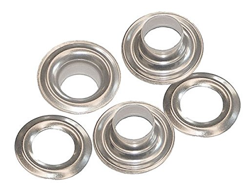 50 QTY-C. S. Osborne & Co.-No. N1-2-NICKEL Grommets & Plain Washers,size 2. MPN# 13118