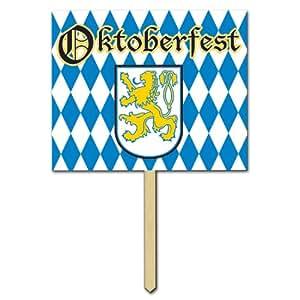 Oktoberfest Yard Sign 12in. x 15in. Party Accessory (1/pkg) Pkg/6