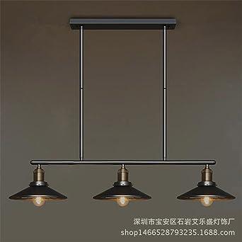 Shengye Style Rustique Plafonnier Lampe Suspension Lustre Fer A