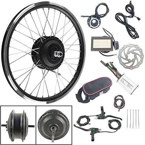 Schuck Kits de conversión de Bicicleta eléctrica, Motor de Rueda Delantera 36V350W Pantalla KTLCD3 Electric Bicycle…