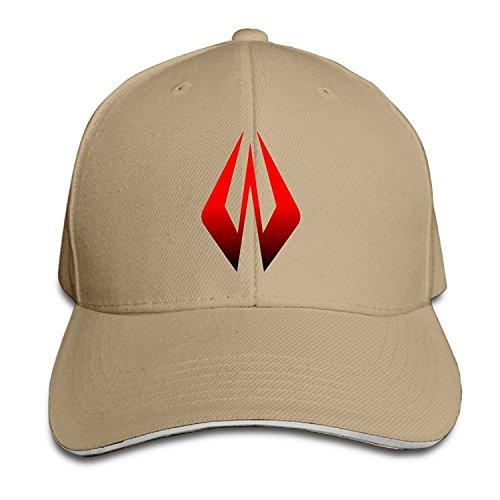 BUOIE Men's F1 Formula One Kimi Raikkonen Logo Sandwich Peak Cap Natural