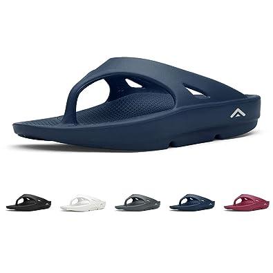 46d7c5d58c0e FANTURE Men   Women s Ultra Soft Flip Flops Thong Foot Pain Relief Arch  Support Recovery Slipper