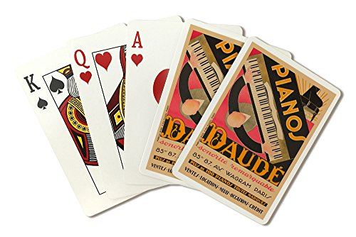 France - Pianos Daude - Sonorite Remarquable - (artist: Daude c. 1926) - Vintage Advertisement (Playing Card Deck - 52 Card Poker Size with Jokers)