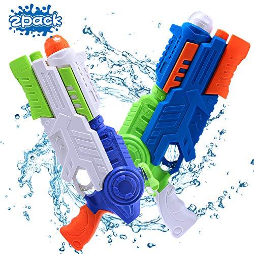 FUNTECH Super Soaker Water Gun, 2 Pack Super Water Guns Water Blaster, 1200cc/40oz High Capacity Water Soaker Blaster Squirt Guns for Kids Adults Swimming Pool Party Outdoor Beach Water Fighting