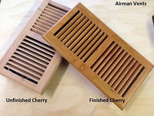 4x10,4x14,6x10,6x14, Brazilian Cherry Wood Floor Vent and Register Drop in, light Finished ()