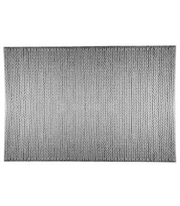 Rechteckiger Teppich Torsade aus Baumwollmischung grau pastell–140x 200cm