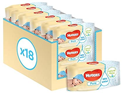 Huggies Pure - 18 Pack (56 Wipes Per Pack Total 1008 Wipes) by Huggies