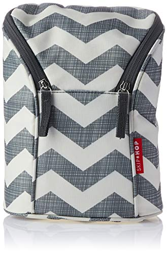 Skip Hop Insulated Breastmilk Cooler And Baby Bottle Bag, Chevron