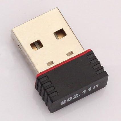 Heaviesk Mini Tarjeta de Red PC Adaptador WiFi USB Antena WiFi Ordenador inalámbrico Tarjeta de Red Mini Ordenador inalámbrico Receptor de Tarjeta de ...