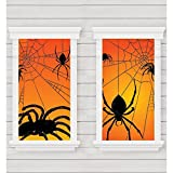 "Amscan Spider Window Silhouette 65"" x 33"