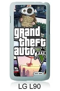 Best Sale LG L90 Case Grand Theft Auto V 1 White Fashionable LG L90 Custom Case