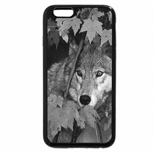 iPhone 6S Plus Case, iPhone 6 Plus Case (Black & White) - Autumn wolf