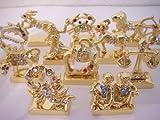 Metal & Gem Zodiac Figurine Set