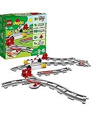 LEGO 10882 DUPLO Town Treinrails Bouwset met Rode Actiesteen voor Kinderen van 2 Jaar en Ouder