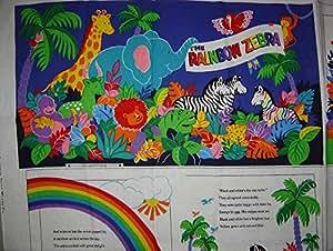 Amazon.com: Rainbow Zebra Storybook Panel de tela, VIP ...