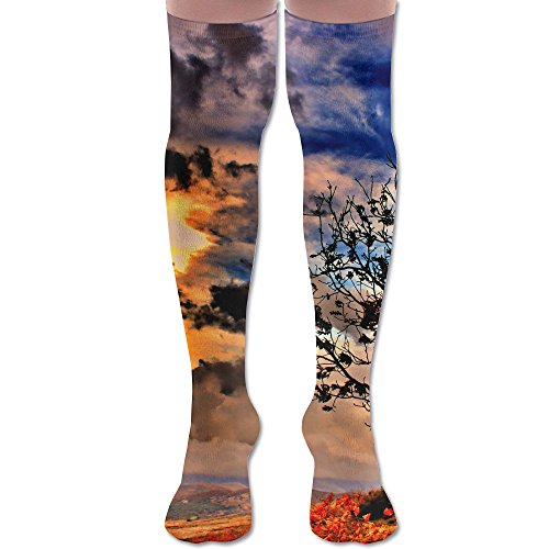 - Tree 60CM Long Dress Over-the-Calf Tube Socks For Outdoor Activities Soft Comfortable Breathable Stocking