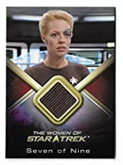 "2017 The Women of Star Trek 50th Anniversary WCC27 Jeri Ryan as Seven of Nine Costume Card ""Archive Box Exclusive"" . Free USA shipping"