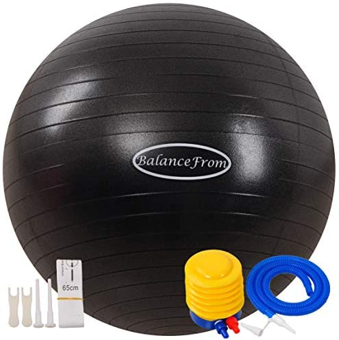 BalanceFrom Anti-Burst and Slip Resistant Exercise Ball Yoga Ball Fitness Ball Birthing Ball with Quick Pump, 2,000-Pound Capacity 1