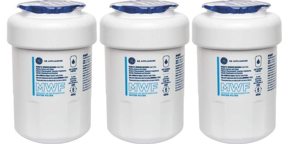 GE MWF3PK Smartwater Refrigerator Water Filter, 3 Pack,