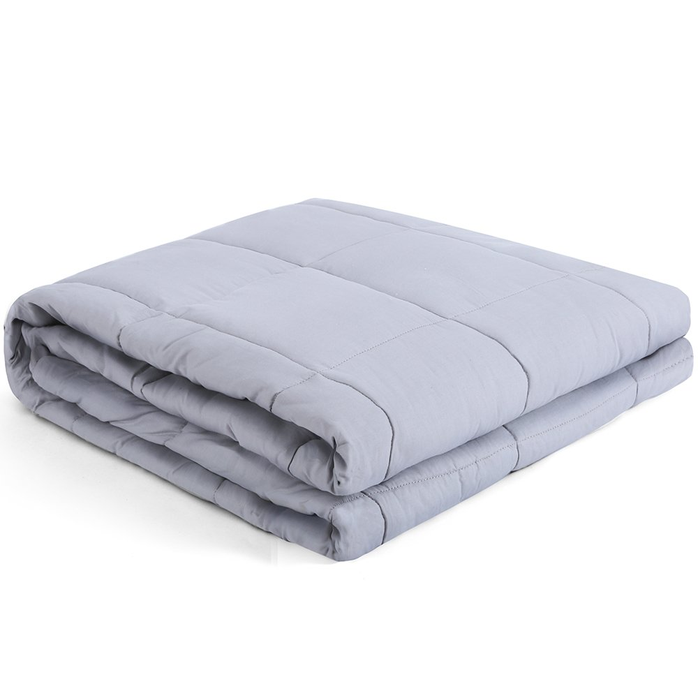 Heavy Blanket Gravity Sensory Weighted Throw Cotton Cozy Bed Blankets Adults Kids for Calming Comfort Deeper Better Faster Sleep Reduce Stress Anxiety Relaxing Muscles Nervous System 48''x72''-15 LB by Kpblis