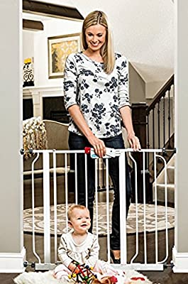 Regalo Easy Step 39-Inch Extra Wide Baby Gate, Bonus Kit, Includes 6-Inch Extension Kit, 4 Pack Pressure Mount Kit and 4 Pack Wall Mount Kit