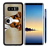 MSD Samsung Galaxy Note 8 Aluminum Backplate Bumper Snap Case IMAGE ID: 7254790 Cute puppy jack russell with colourful collar