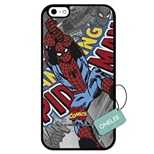 Onelee(TM) - Customized Marvel Super Hero Spider Man TPU Case Cover for Apple iPhone 6 - Black 03