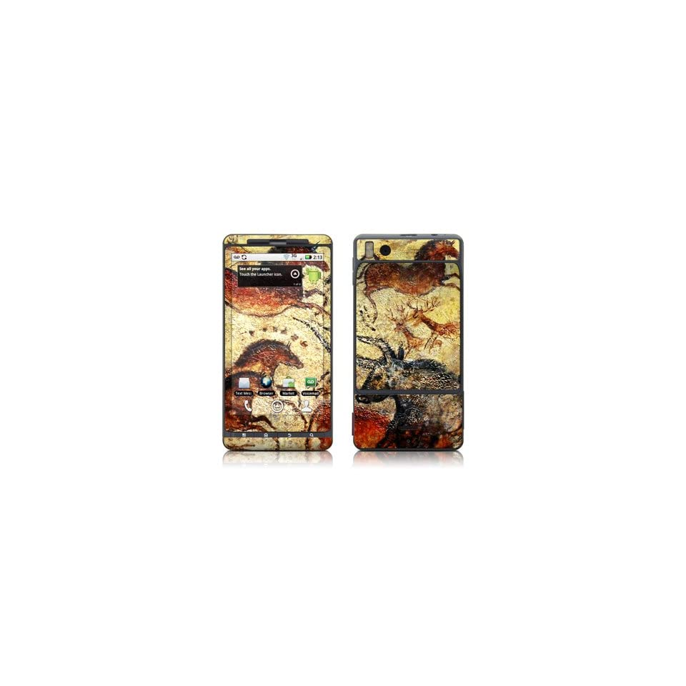 Prehistoric Stallion And Bull Skin Decal Sticker for Motorola Droid X Cell Phone